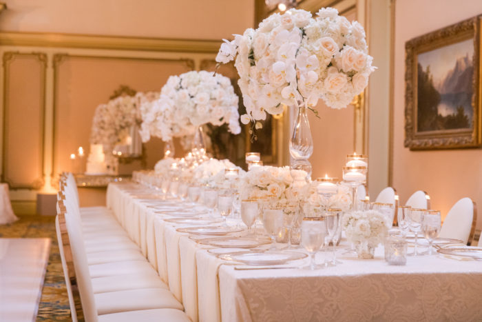 Long Tables at Langham Pasadena Wedding