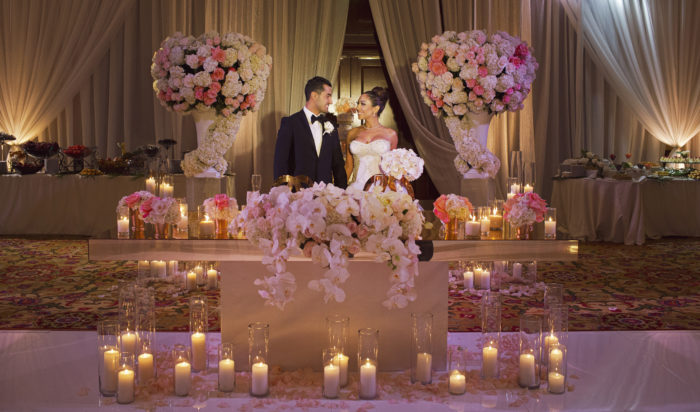 Duke Images luxury persian wedding orchids mirror sweetheart table best sweetheart table design