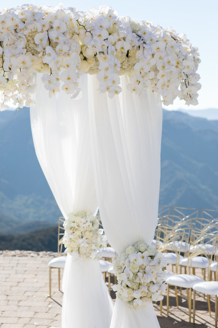 Accent chuppah white phalanopsis orchids best wedding chupaphs