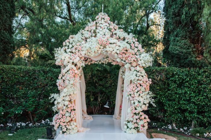 Best Wedding Chuppah Ideas Chuppah blush rose ivory beverly hills hotel crystal garden arch wedding