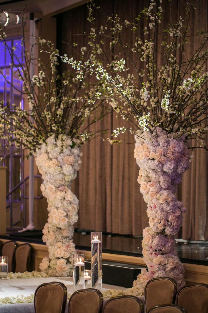 Cherry Blossom Branch Wedding Centerpiece