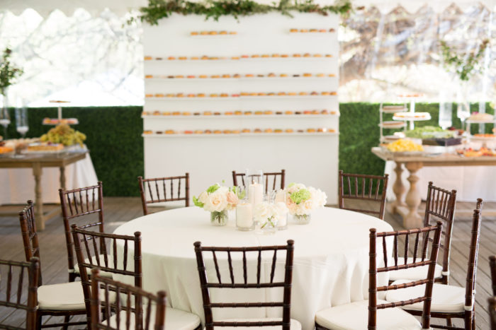 Donut and Dessert Wall at Calamigos Ranch Wedding