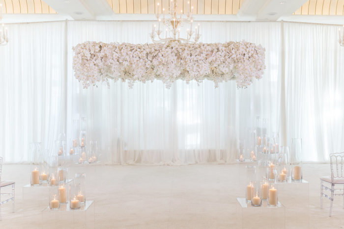 Wedding Acrylic Chuppah with Orchids
