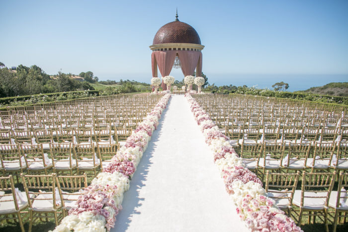 Ceremony on Event Lawn Rotunda at Pelican Hill