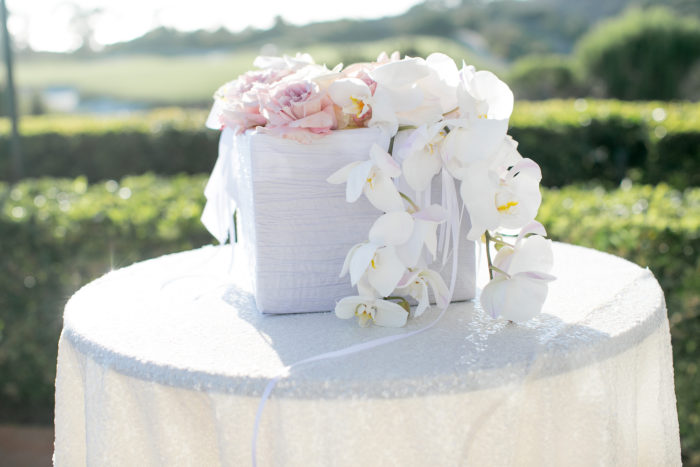 Wedding Gift Card Box with Roses and Orchids