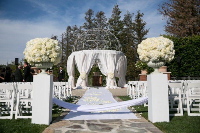 Gazebo at Four Seasons Westlake Village with Draping for Wedding Ceremony