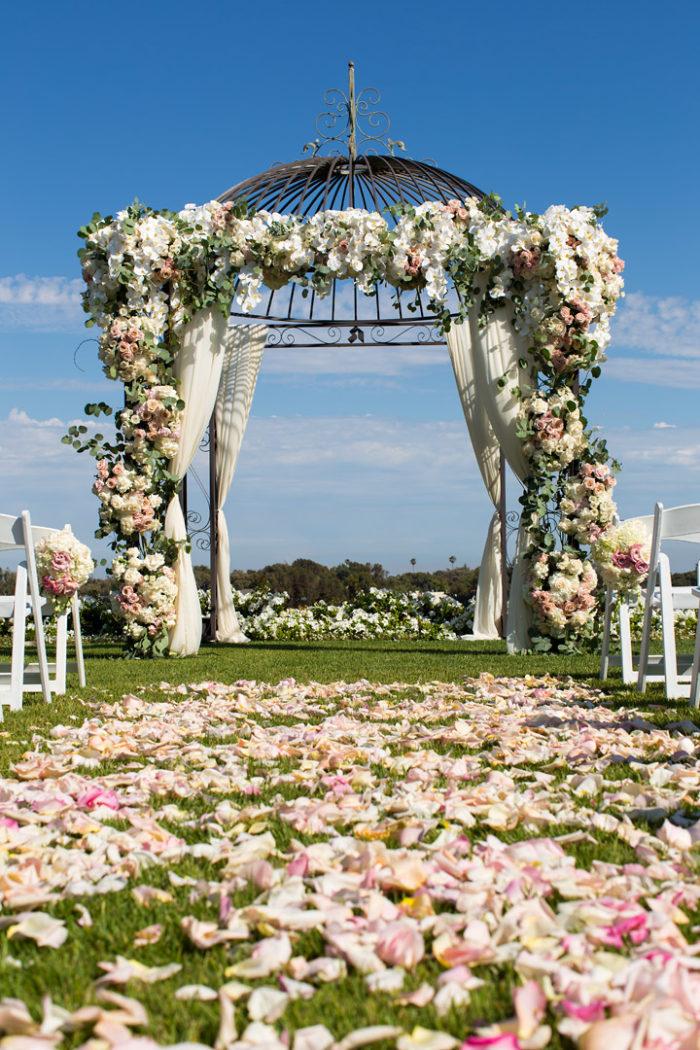 Wedding Chuppah and arch on Riviera existing gazebo