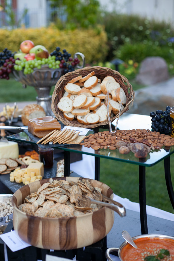 Rustic Catering display by Beverly Premiere Catering