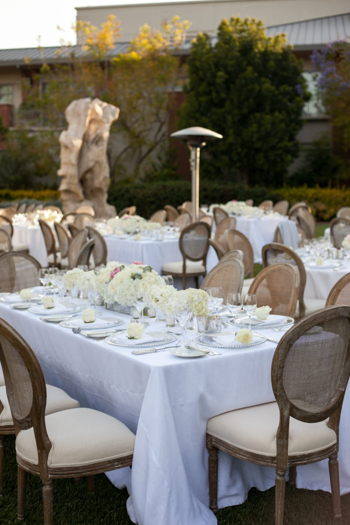 Outdoor dinner at Four Seasons Westlake Village with table setting