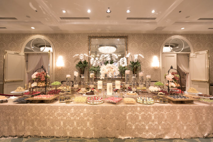 Fruit table at Four Seasons Los Angeles Engagement Party